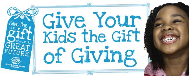 Giving back, teaching kids to give back, Give Back season,