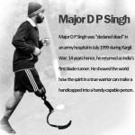 Major D. P. Singh; India's first blade runner; Jazbaa ngo;