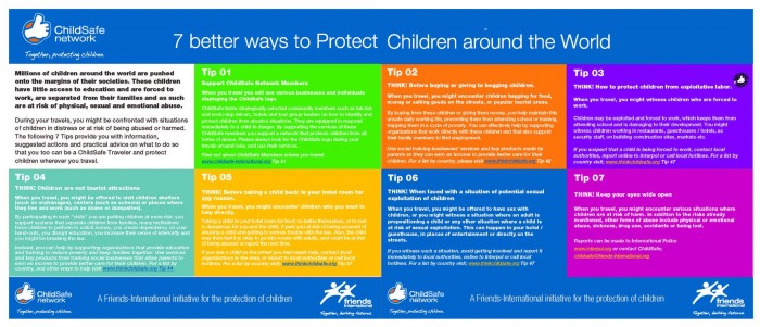 tips to be a child safe traveler and volunteer; Responsible volunteering