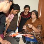 Tactile expert Shantala teaching volunteers