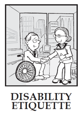 disability etiquette, how to interact with people with disabilities, volunteering with disabled, volunteering with people with disability
