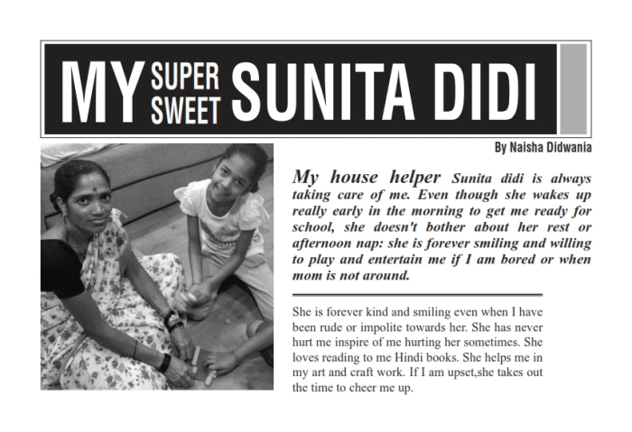 Neighbourhood heroes- kids with compassion-sunita didi