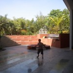 Krishna at Sugad campus with his basketball