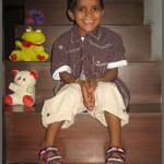 Krishna at his new home