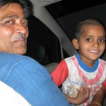 Krishna with Virenbhai on the day they found him