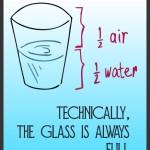 glass half empty or half full, from scarcity to abundance, optimism, pessimism