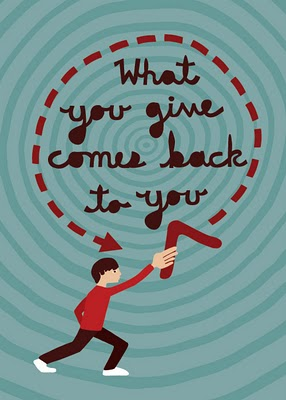 random acts of kindness, kindness boomerang, what you give comes back to you