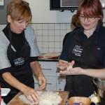 Volunteers training in World War 1 recipes in the kitchen, York Museums Trust, volunteer coordinator, volunteer management