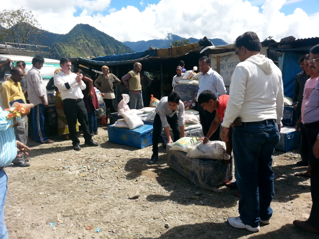 Distribution of relief material
