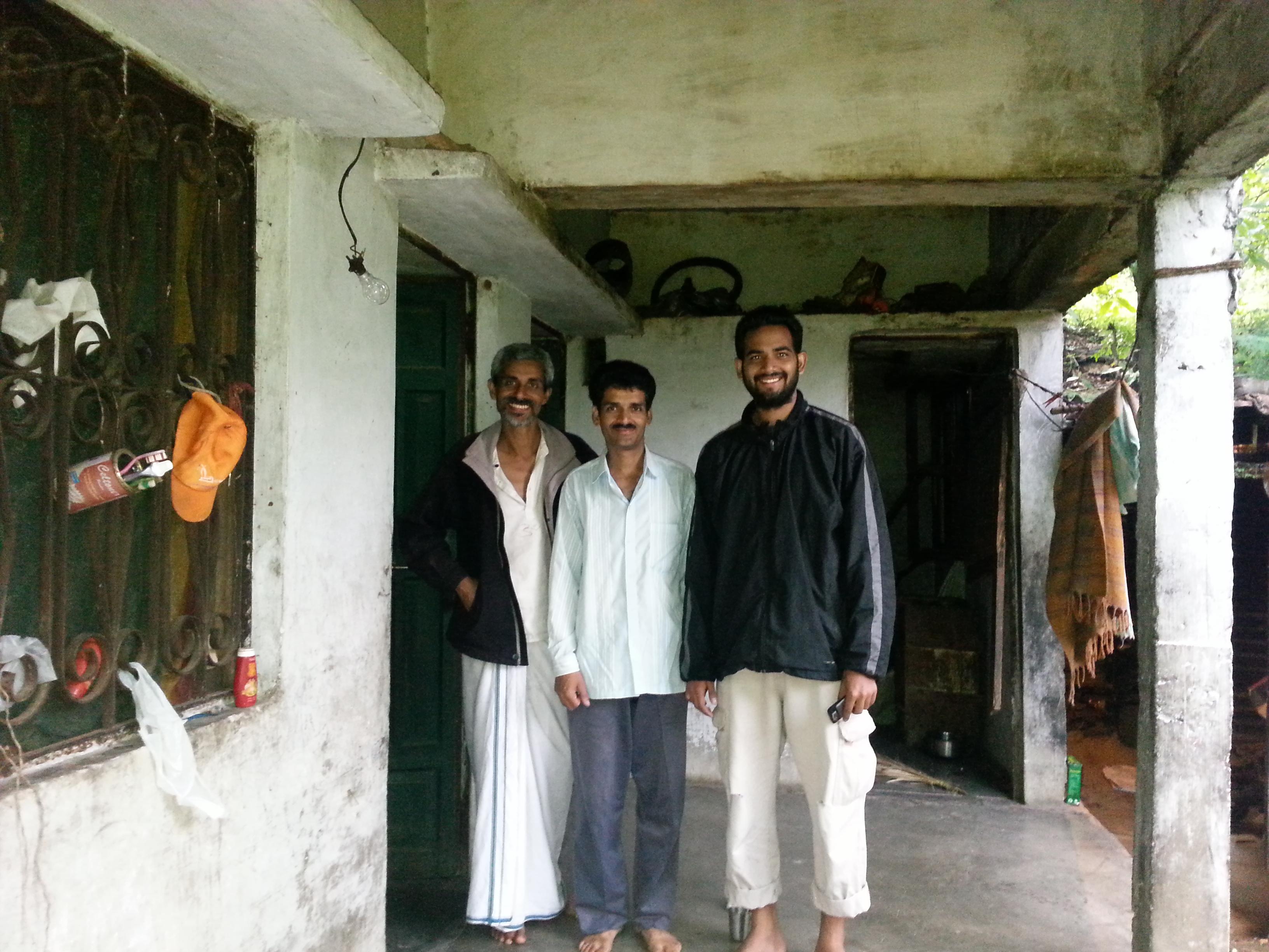 with Trilocahn ji at Sunder Lal Bahuguna ji's ashram