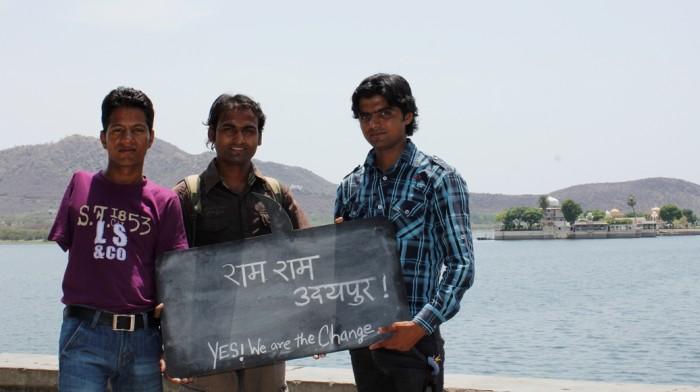 ram ram udaipur, yes I am the change, kishan prajapat, karan singh, govind,