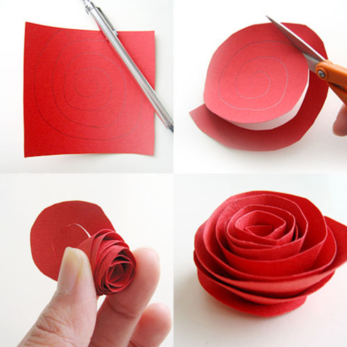 how to make a paper rose in 4 steps artwithheart