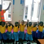 volunteering with children, teaching kids the importance of hand hygiene, volunteering on global hand wash day