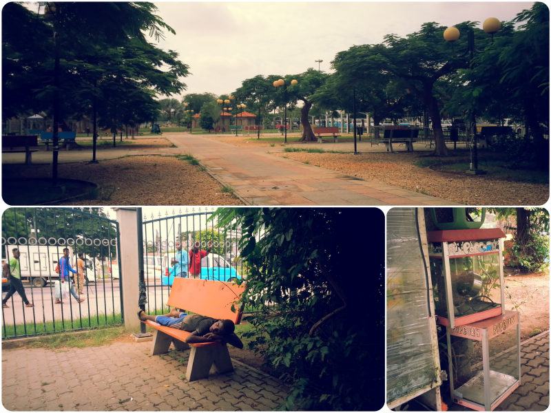 the independence park, volunteering in Luanda