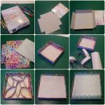 DIY photo frame, recycle, up cycle, cereal box crafts