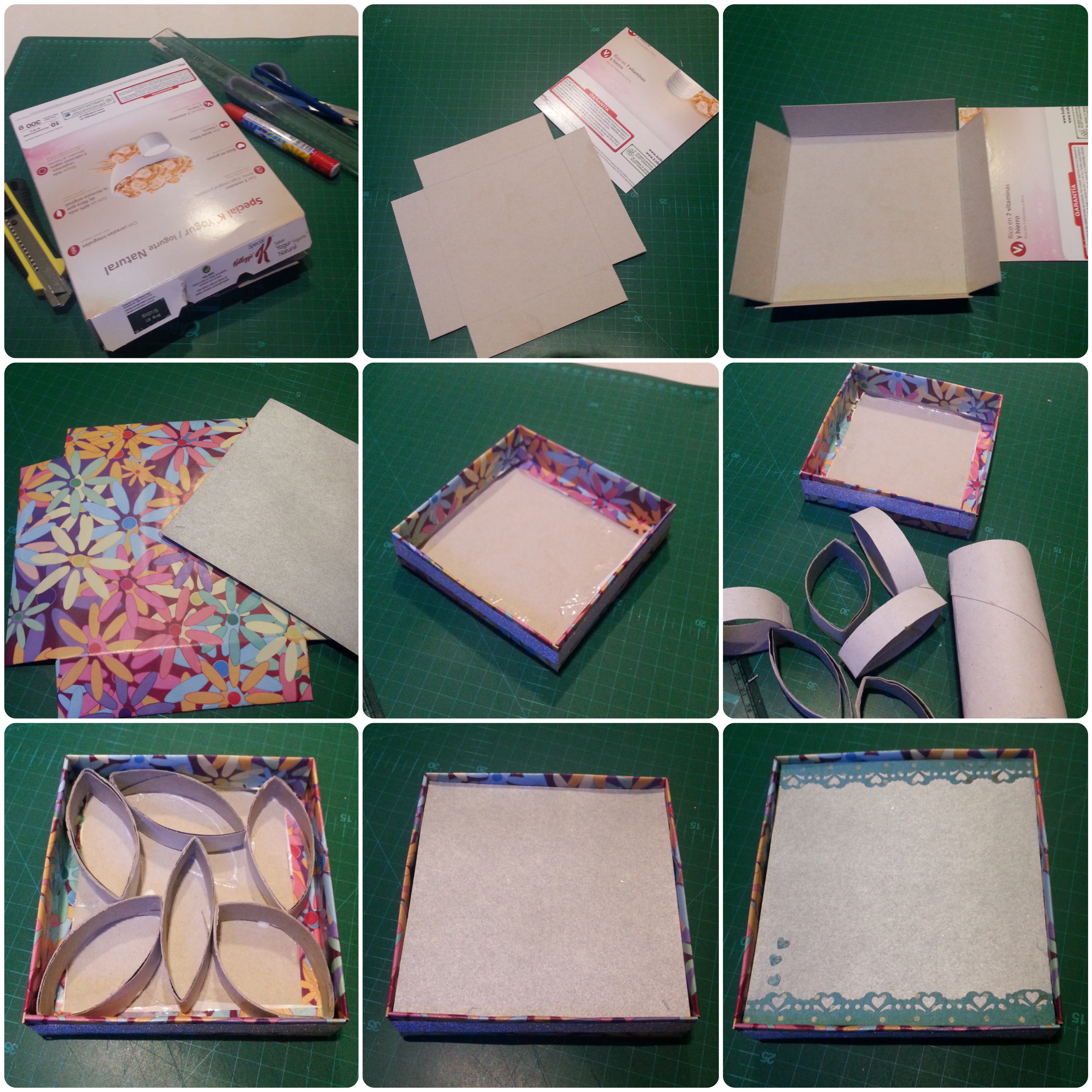 Diy Box Photoframe From Cereal Box Step By Step Volunteer