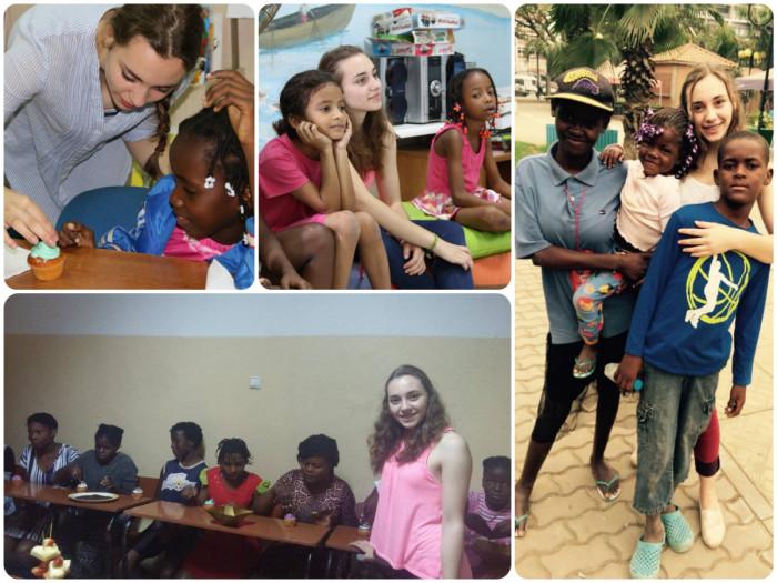 Volunteering with children in Luanda, Angola