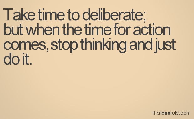 Take time to deliberate - Why should we volunteer