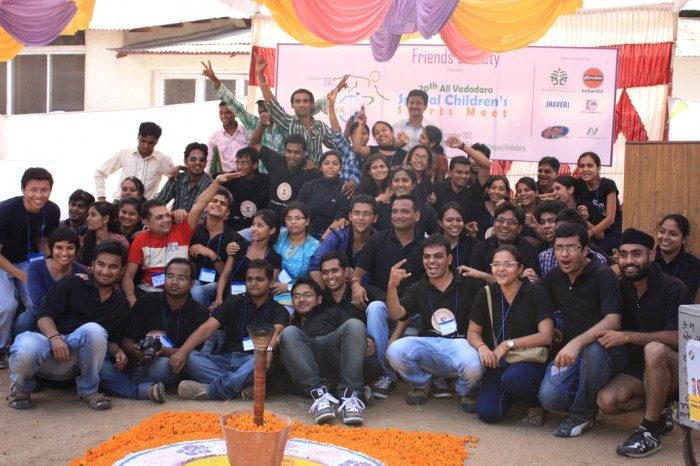 Volunteers at Shaurya, Sports event for special children, friends society, Vadodara