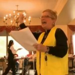 Marie Zucchero – the group singing for residents