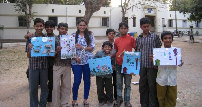 volunteering with children with disability, friends society, volunteering with blind, tactile painting,