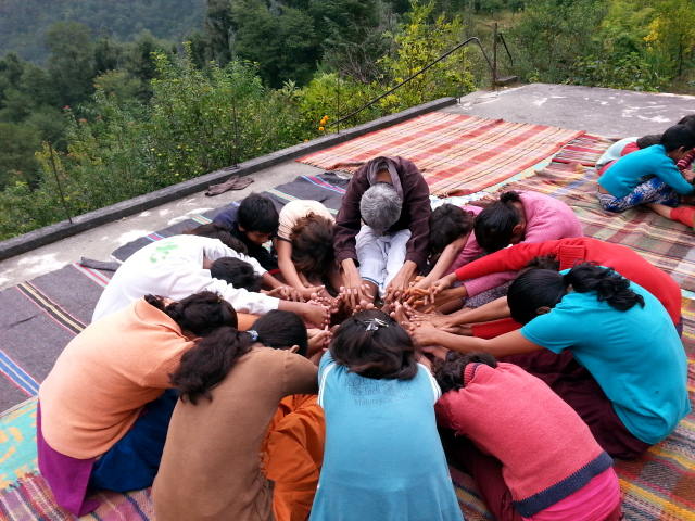 Joseph ji taking Yoga classes at SNC