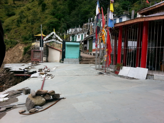 More than half of kalimath temple was washed away
