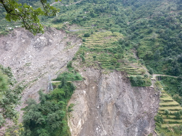 The region has loose mountains, due to landslides a lot of land and villages disappeared