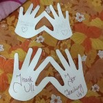 Hand-heart thank you cards #artwithheart
