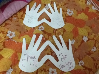 #artwithheart, art with heart, hand-heart thank you cards, craft activities with children, volunteering with children, parenting and volunteering