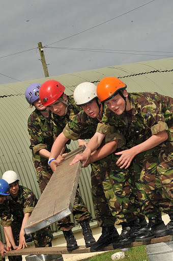 Volunteering with socially disadvantaged youth, Army Cadet Force