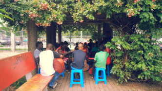 volunteering in Angola, music sessions for all in public parks