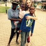 Volunteering with street children at the Independence park in Luanda